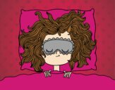 Desenho Menina de sono pintado por Anninha09