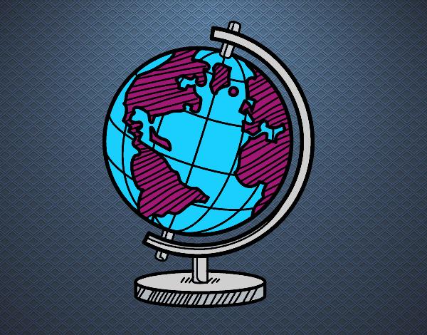 Desenho O globo terrestre pintado por Craudia