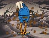 Desenho Robô tv pintado por miguelms