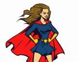 Desenho Super girl pintado por corucano