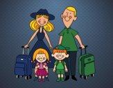 Desenho Uma família de férias pintado por ANALUMA