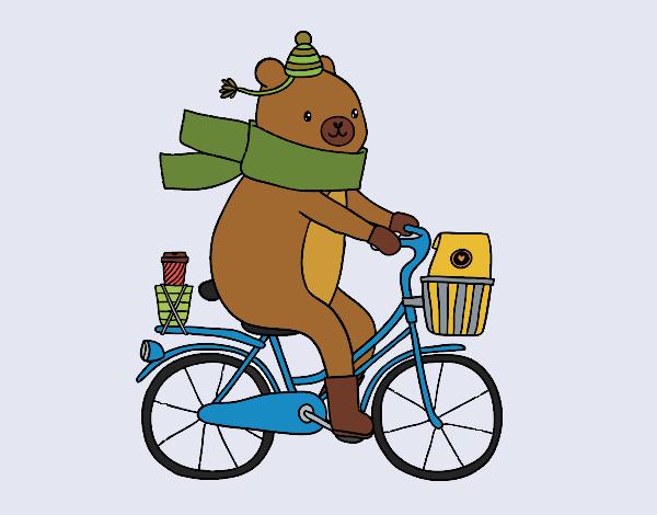 Desenho Urso portador pintado por Craudia