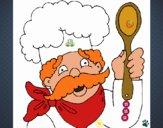 Chefe com bigode