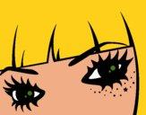 Desenho Emo olhos pintado por ANALUMA