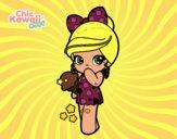 Desenho Menina kawaii com sorvete pintado por ANALUMA