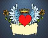 Desenho Mensagem com coração pintado por LadyMcm