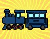 Desenho Trem alegre pintado por isabelle29