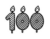 Desenho de 100 anos para colorear