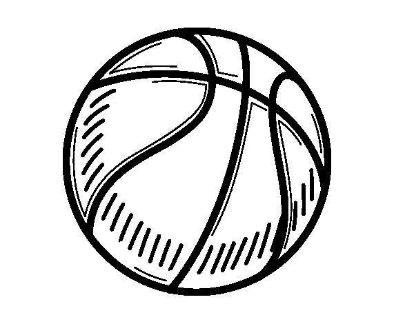 Desenho de A bola de basquete para Colorir