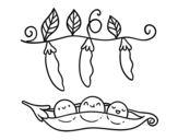 Desenho de Algumas ervilhas para colorear