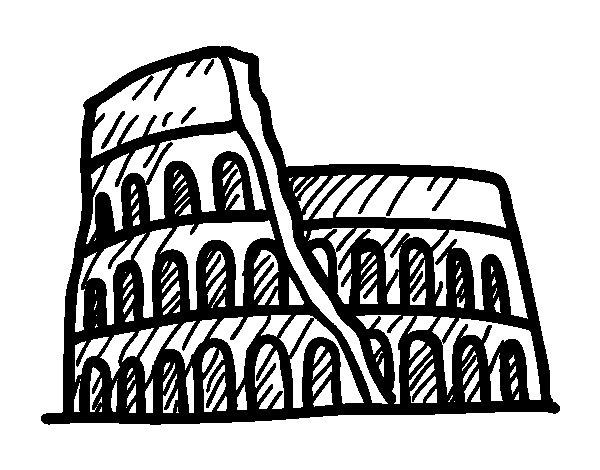 Desenho de Anfiteatro para Colorir