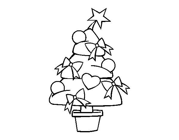 Desenho De Árvore De Natal 3 Para Colorir