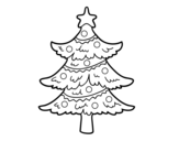 Dibujo de Árvore de Natal decorada