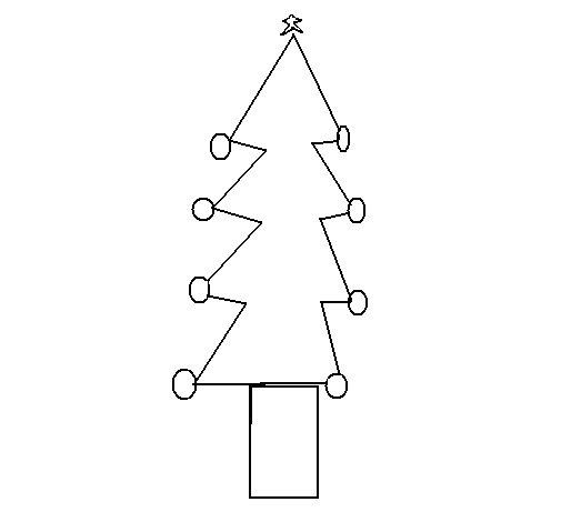 Desenho De Árvore De Natal III Para Colorir