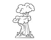 Desenho de Árvore japonesa para colorear