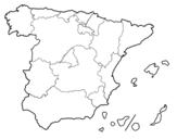 Desenho de As Comunidades Autónomas de Espanha para colorear