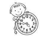 Desenho de As horas para colorear