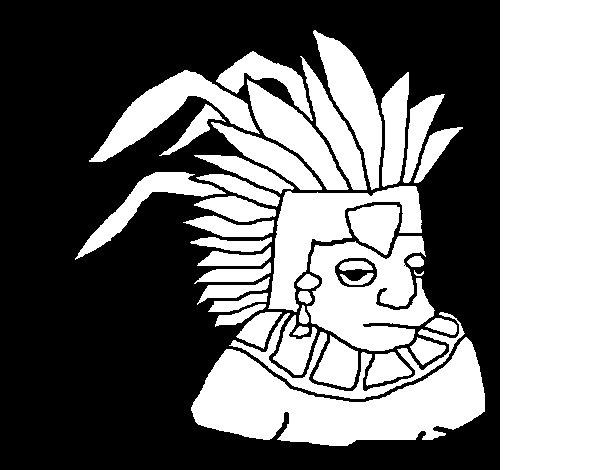 Desenho de Asteca para Colorir