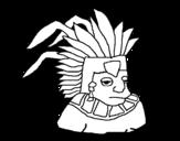 Dibujo de Asteca
