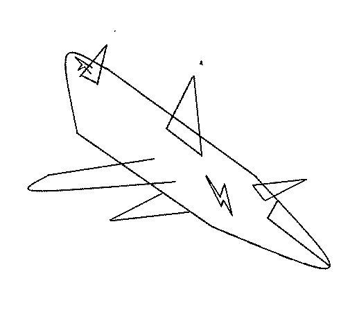 Desenho de Avião decolando para Colorir