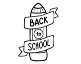Desenho de Back to School para colorear
