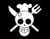 Dibujo de Bandeira de Sanji