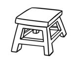 Desenho de Banquinho quadrado para colorear