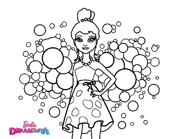 Desenho De Barbie Princesa Cor De Rosa Para Colorir