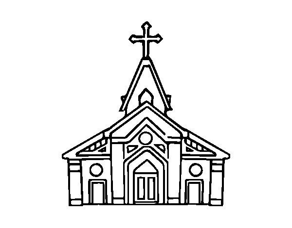 Desenho de Basílica para Colorir