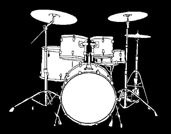 Desenho de Bateria de percussão para Colorir