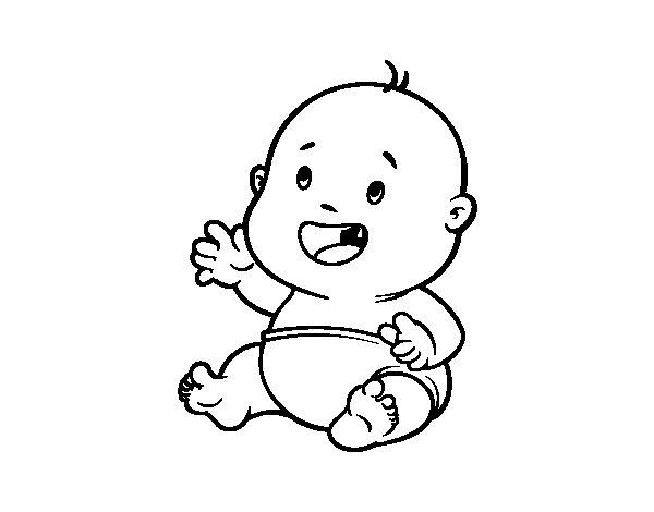 Desenho de Bebê sorrindo para Colorir - Colorir.com