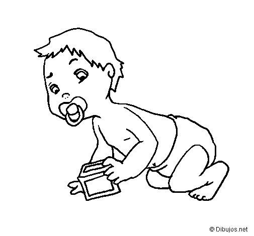 Desenho de Bébé para Colorir