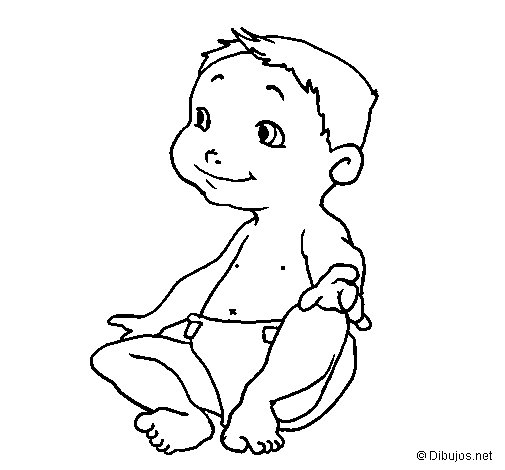 Desenho de Bébé III para Colorir