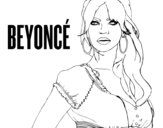 Desenho de Beyoncé B-Day para colorear