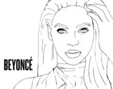 Desenho de Beyoncé I am Sasha Fierce para colorear