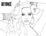 Desenho de Beyoncé para colorear