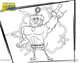 Desenho de Bob Esponja - Invencibolha para colorear