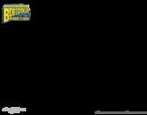 Desenho de Bob Esponja - Plank-Tônus para o ataque para colorear