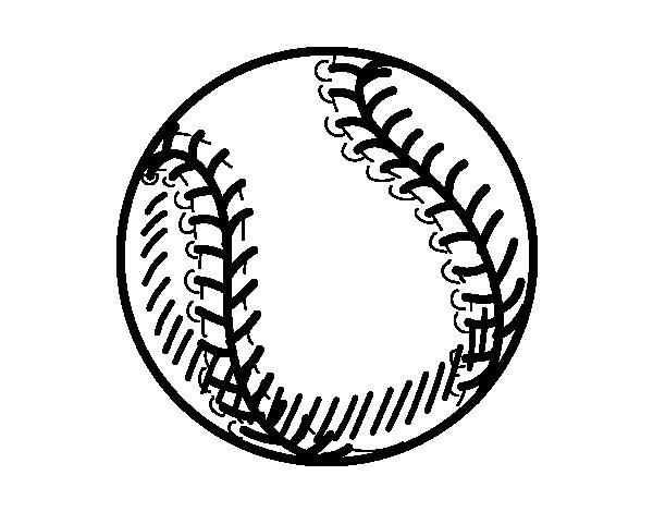 Desenho de Bola beisebol para Colorir