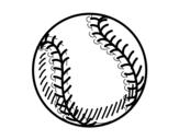Desenho de Bola beisebol para colorear