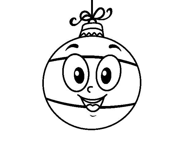 Desenho De Bola Da árvore De Natal Para Colorir
