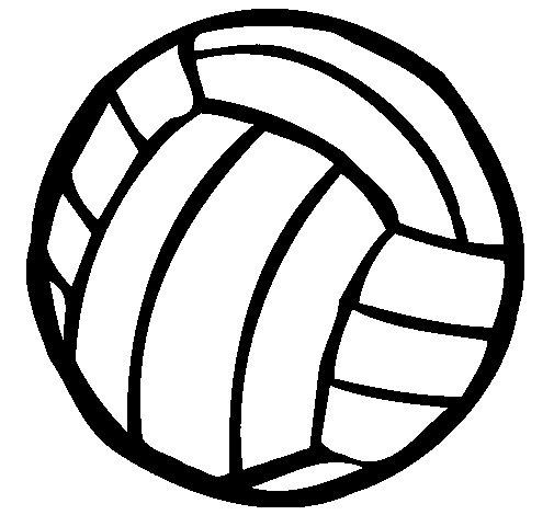 Desenho de Bola de voleibol para Colorir