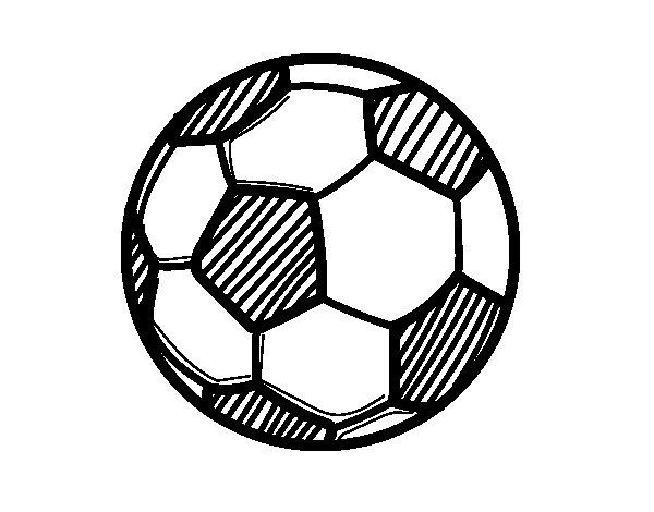 Desenho de Bola futebol para Colorir