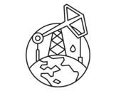 Desenho de Bomba de vareta de sucção para colorear