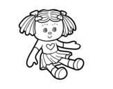 Dibujo de Boneca de brinquedo