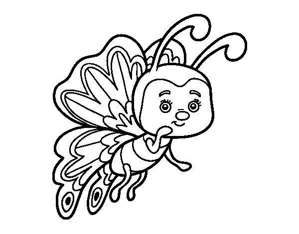 Desenho de Borboleta coquete para Colorir