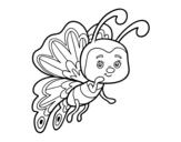 Desenho de Borboleta coquete para colorear