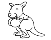 Dibujo de Boxe canguru