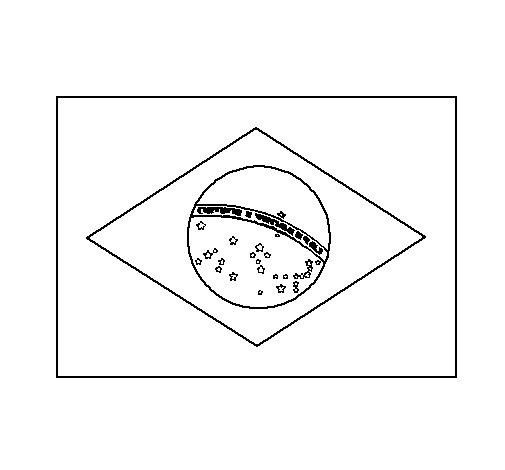 Desenho de Brasil para Colorir
