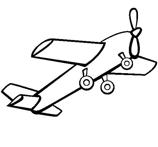 Desenho de Brinquedo avião para Colorir
